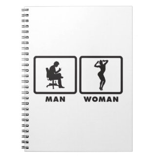 Gymnastic Floor Exercise Spiral Notebook