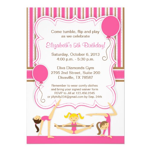 Gymnastic Party Invitations was awesome invitations ideas