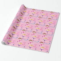 Gymnastic Girls Birthday Wrapping Paper