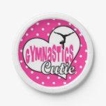 gymnast party supplies, gymnastics plates,