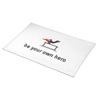 Gymnastic Parallel Bars Hero Placemat