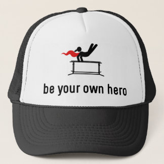 Gymnastic Parallel Bars Hero Trucker Hat
