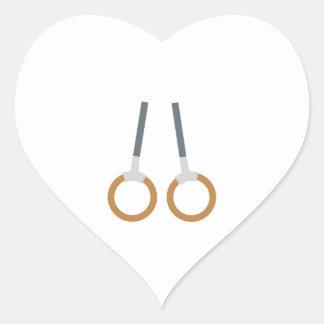 Gymnastic Rings Heart Sticker