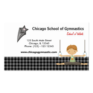 Gymnastic School (Black) Double-Sided Standard Business Cards (Pack Of 100)