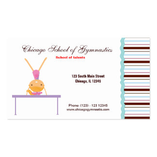 Gymnastic School Double-Sided Standard Business Cards (Pack Of 100)