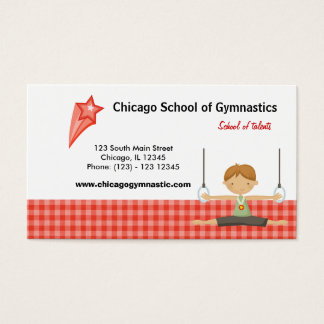 Gymnastic School (Red) Business Card