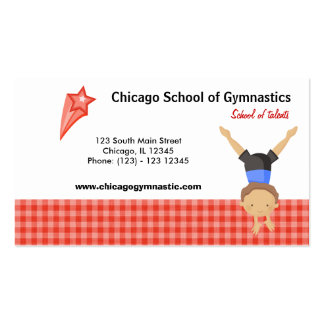 Gymnastic School (Red) Business Card Templates