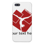 Gymnastic Silouhette in Red Cover For iPhone 5