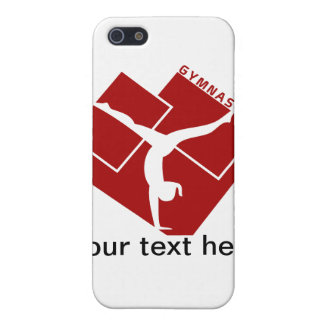 Gymnastic Silouhette in Red iPhone SE/5/5s Cover