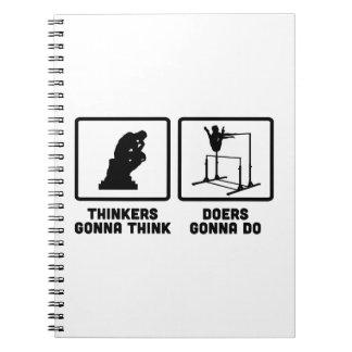 Gymnastic Uneven Bars Spiral Notebooks