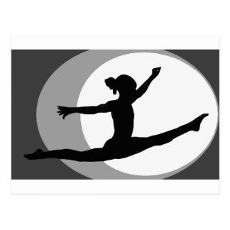 Gymnastics 4 postcard