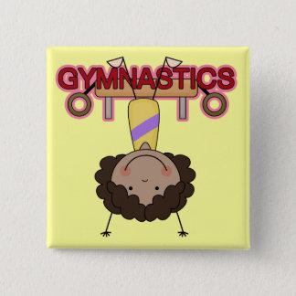 GYMNASTICS - African American Girl Handstands Button