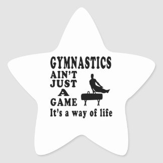 Gymnastics Ain't Just A Game It's A Way Of Life Star Sticker