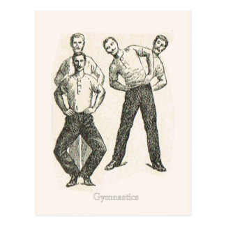 Gymnastics and exercise 1 postcard