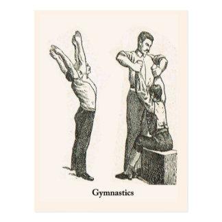 Gymnastics and exercise 2 postcard
