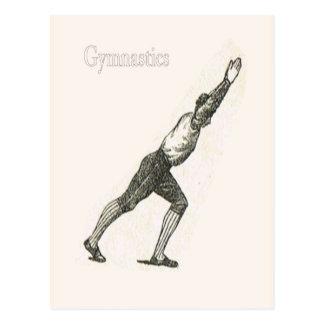 Gymnastics and exercise 5 postcard