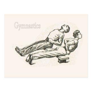 Gymnastics and exercise 6 postcard