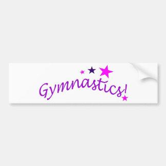Gymnastics Arched with Stars Car Bumper Sticker