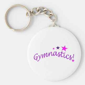 Gymnastics Arched with Stars Key Chains