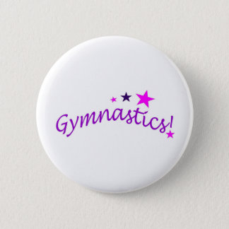 Gymnastics Arched with Stars Pinback Button
