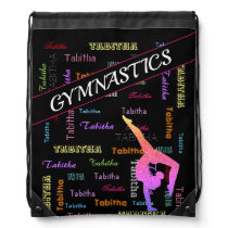 Gymnastics Bag with Personalized Name All Over