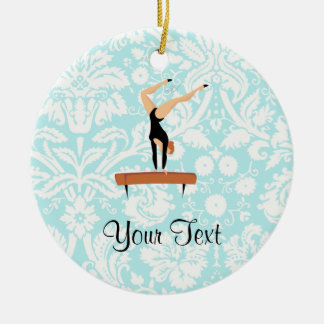 Gymnastics Balance Beam Ceramic Ornament