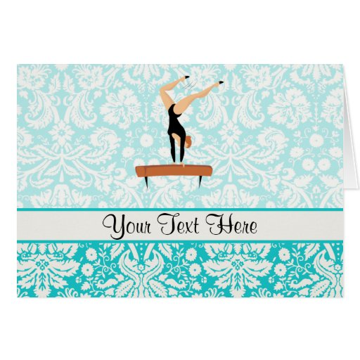 Gymnastics Balance Beam Greeting Card
