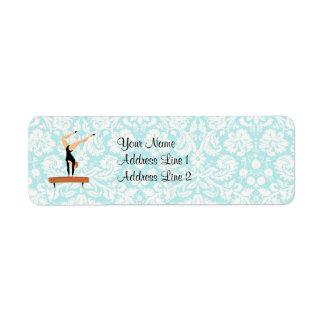 Gymnastics Balance Beam Labels
