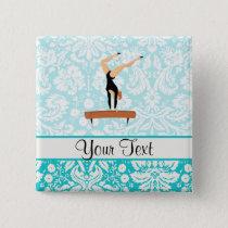 Gymnastics Balance Beam Pinback Button