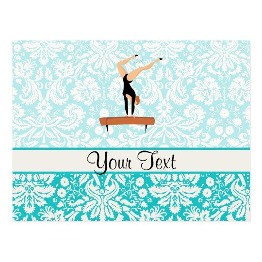 Gymnastics Balance Beam Postcard