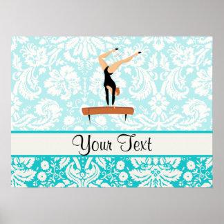 Gymnastics Balance Beam Poster