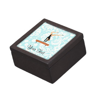 Gymnastics Balance Beam Premium Keepsake Box