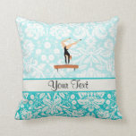 Gymnastics Balance Beam Throw Pillow