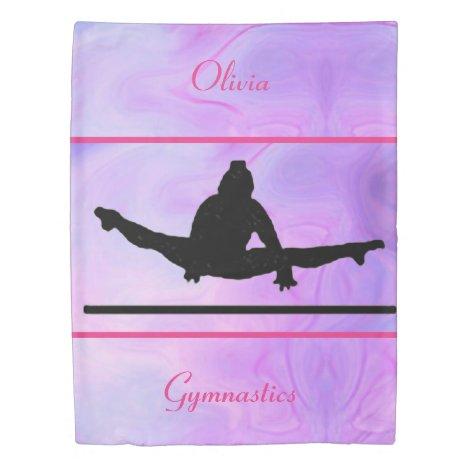 Gymnastics Bedding Reversible Duvet Cover w/ Name
