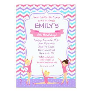 Gymnastics birthday invitations zazzle gymnastics birthday invitations filmwisefo