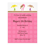 Gymnastics Birthday Party Invitation Announcements