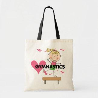 GYMNASTICS - Blond Girl Balance Beam Tshirts Canvas Bags