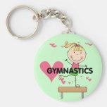 GYMNASTICS - Blond Girl Balance Beam Tshirts Key Chain