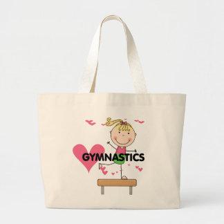 GYMNASTICS - Blond Girl Balance Beam Tshirts Large Tote Bag