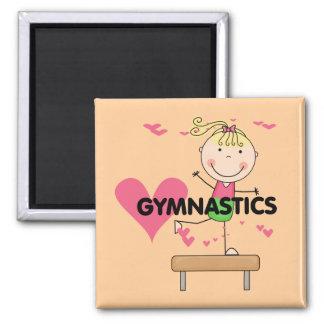 GYMNASTICS - Blond Girl Balance Beam Tshirts Magnet