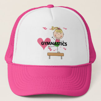 GYMNASTICS - Blond Girl Balance Beam Tshirts Trucker Hat