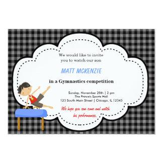 Gymnastics Boy Competition (Black) Custom Invite