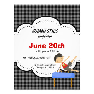 Gymnastics Boy Competition Black Flyer Design