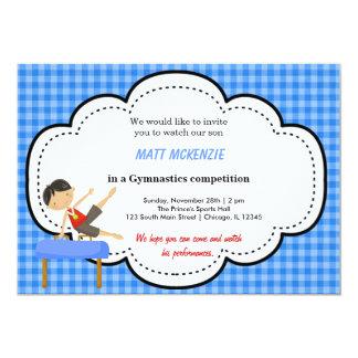 Gymnastics Boy Competition (Blue) Card