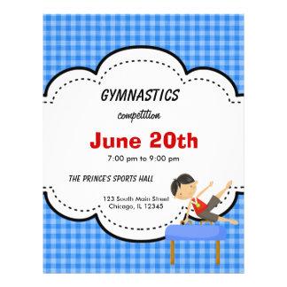 Gymnastics Boy Competition Blue Custom Flyer