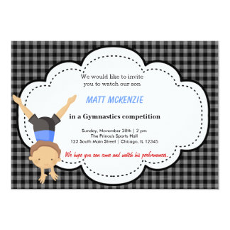 Gymnastics Boy competition Card