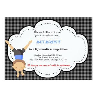 Gymnastics Boy competition Custom Announcement