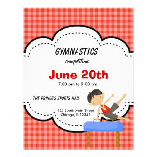 Gymnastics Boy Competition Red Flyer Design