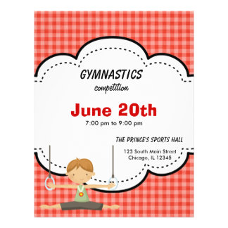 Gymnastics Boy Competition (Red) Flyers