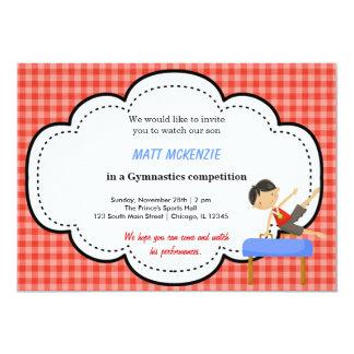 Gymnastics Boy Competition (Red) Invitation